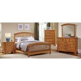 Forsyth Medium Oak Arched Bedroom Set