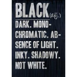 Black Defined Canvas Wall Art