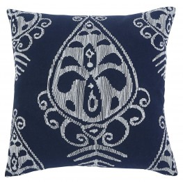 Embroidered Navy Pillow Cover Set of 4