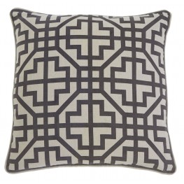 Geometric Charcoal Pillow Cover Set of 4