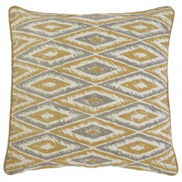 Stitched Gold Pillow Cover Set of 4