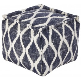 Bruce Ink/White Pouf