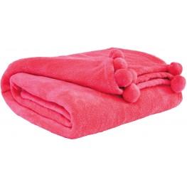 Aniol Pink Throw Set of 3