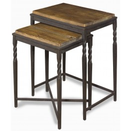 Arlo Almond And Gunmetal Nesting Tables