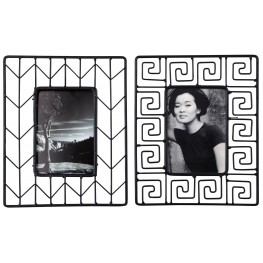 Achava Black Photo Frame Set of 2