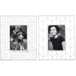 Achava White Photo Frame Set of 2