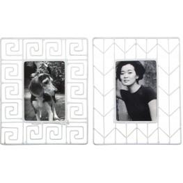Achava White Photo Frame Set of 2