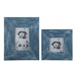 Baeddan Antique Blue Photo Frame Set of 2