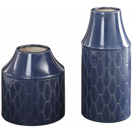 Caimbrie Navy Vase Set of 2