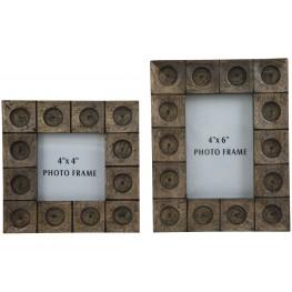 Jasiah Antique Gray Photo Frame Set of 2