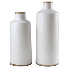 Kaelem Antique White Vase Set of 2