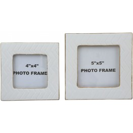 Kaelem Antique White Photo Frame Set of 2