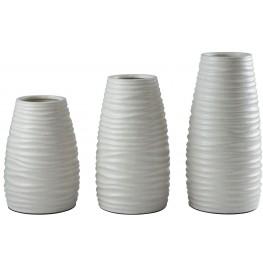 Kaemon White Vase Set of 3