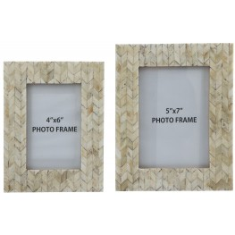 Kase Cream Photo Frame Set of 2