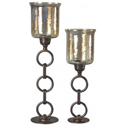 Oana Bronze Candle Holder Set of 2