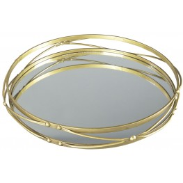 Ocelfa Antique Gold Tray Set of 2