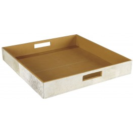 Odeda Beige Square Tray Set of 2