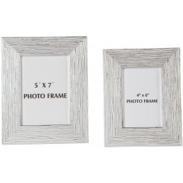 Devaki White and Silver Photo Frame Set of 2