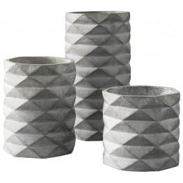 Charlot Gray Vase Set of 3