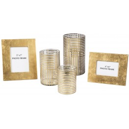 Desirius Clear and Gold Accessory Set of 5