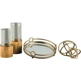 Deserae Antique Gold Accessory Set Set of 5