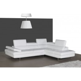 A761 White Italian Leather RAF Sectional