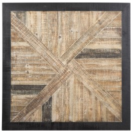 Odus Black and Natural Wall Decor