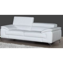 A973 White Italian Leather Sofa
