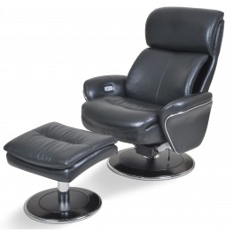 Big Man Ergonomic Leather Slate Chair & Ottoman