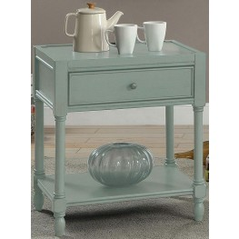 Ciara Antique Teal Side Table