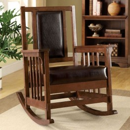 Apple Valley Espresso Upholstered Accent Chair
