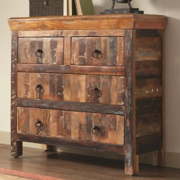 950366 4 Drawer Reclaimed Wood Cabinet