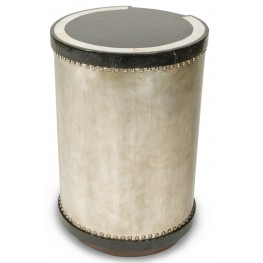 Discoveries Cabibe Shell Inlay Drum Table