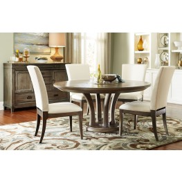 "Park Studio Weathered Taupe 48"" Round Dining Room Set"