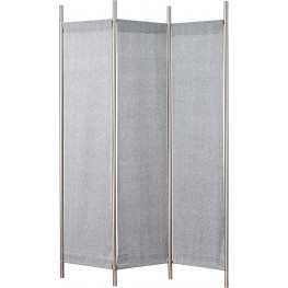 Rita Grey Linen Folding Screen