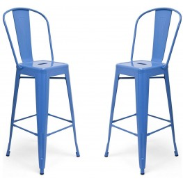Classic Cafe Garvin Blue Barstool Set of 2