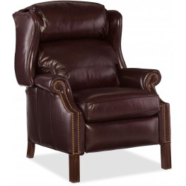 Finley Red Leather Recliner
