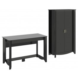 Aero Classic Black Desk With Tall Storage