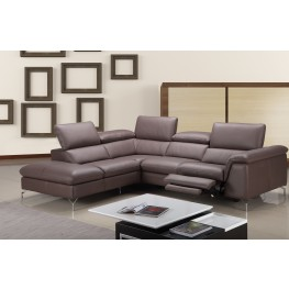 Anastasia Amethyst Leather Power Reclining LAF Sectional