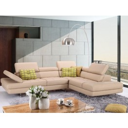 Ancona Italian Leather RAF Sectional
