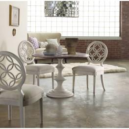 """Melange White Brynlee 42"""" Dining Room Set"""