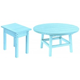 "Generations Aqua 37"" Round Occasional Table Set"