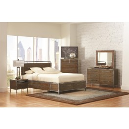 Arcadia Weathered Acacia Platform Bedroom Set
