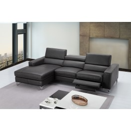 Ariana Gray Leather LAF Sectional
