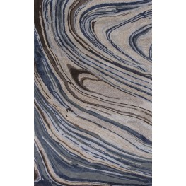 """Artisan Taupe and Blue Natural 138"""" X 102"""" Rug"""