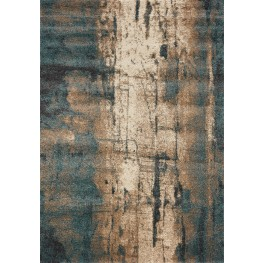 Ashbury Blue/Brown Watercolor Large Rug