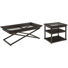 Florentown Dark Brown Occasional Table Set