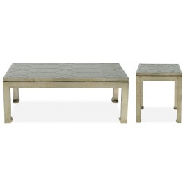 Treviso Crocodile Leather Occasional Table set