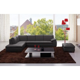 Austin Gray Italian Leather LAF Sectional