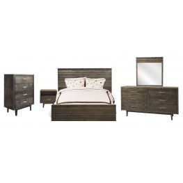 Avondale Charcoal Platform Bedroom Set
